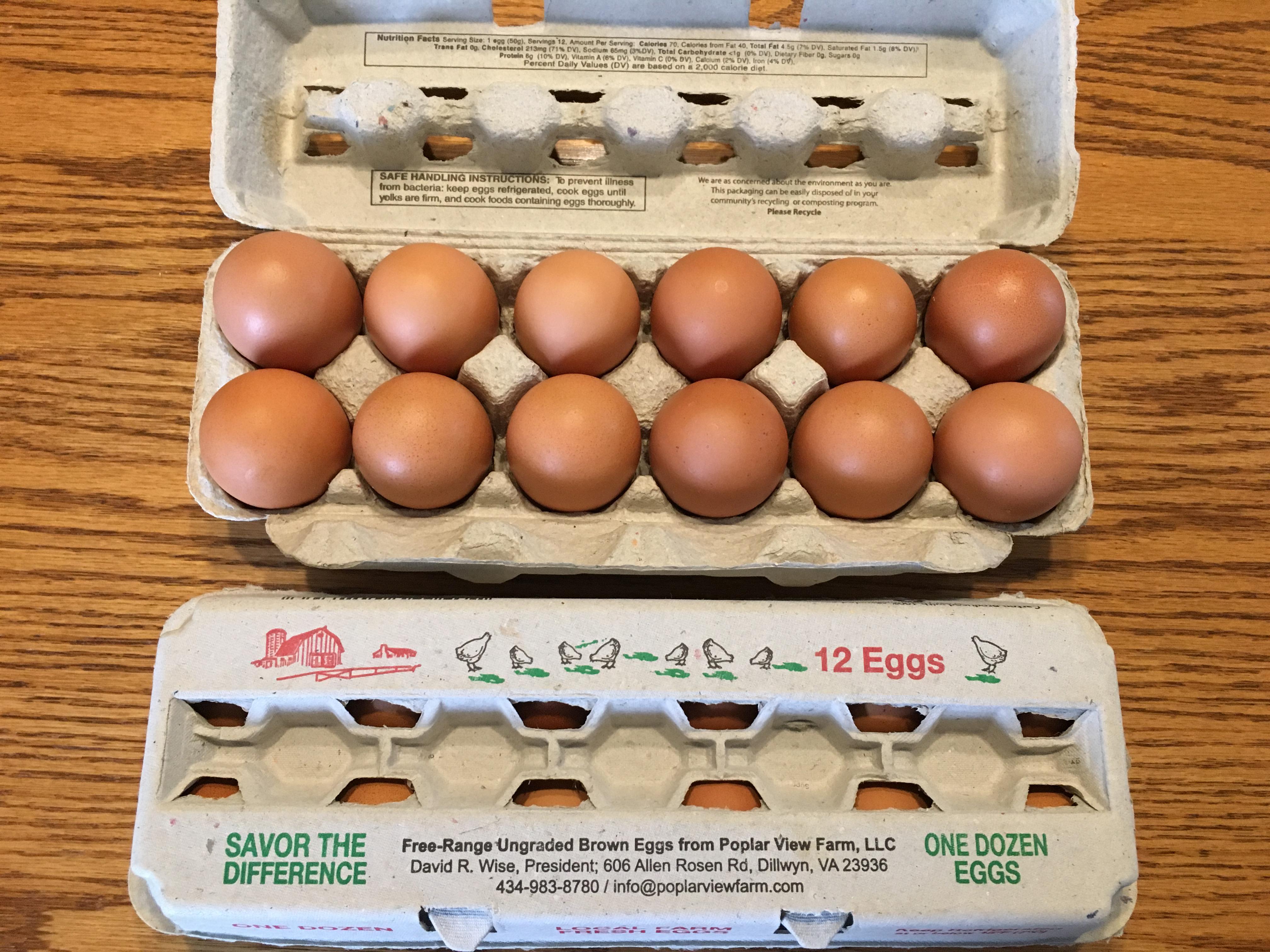 Eggs: 1 Dozen