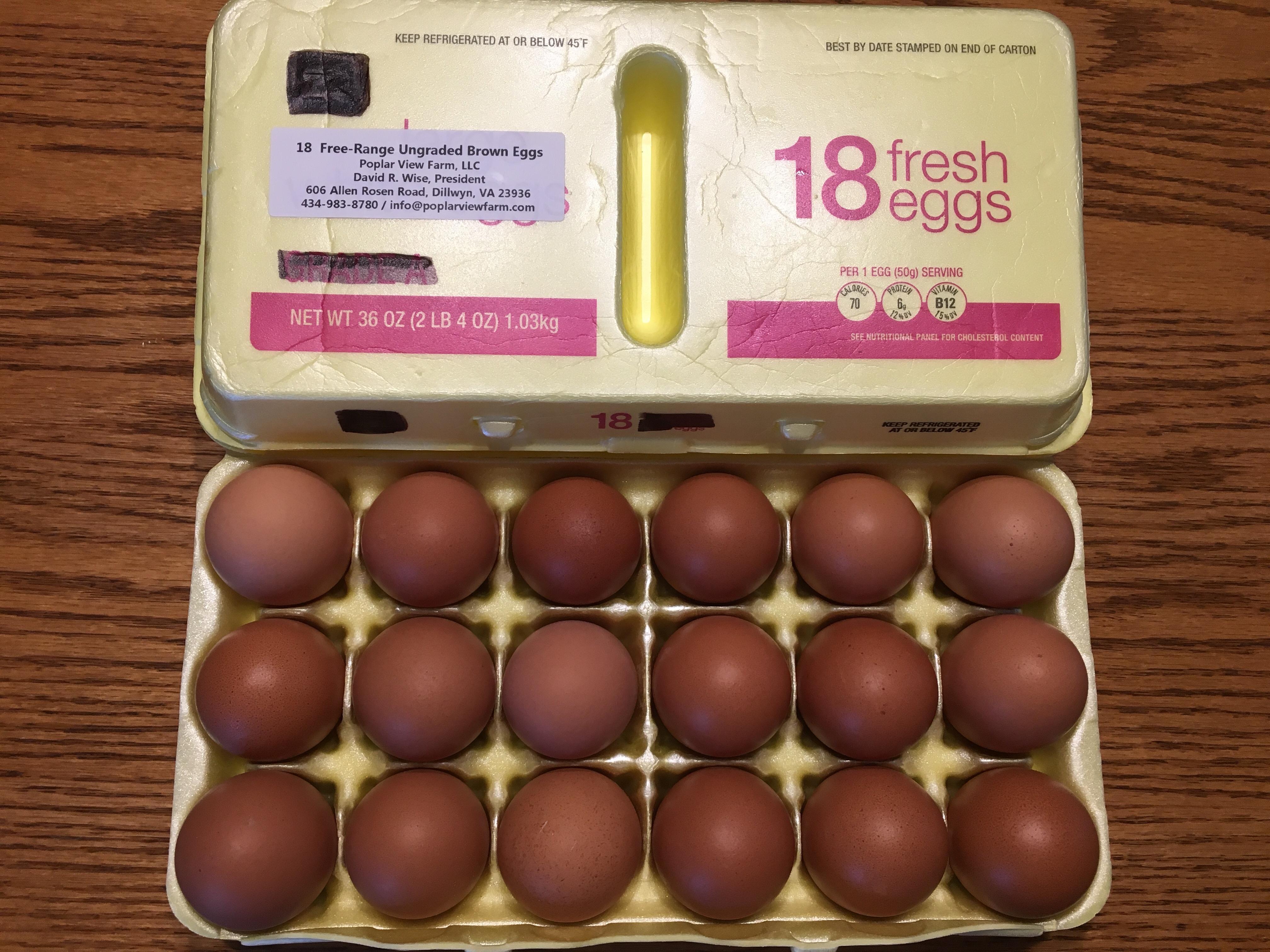 Eggs: 18 Pack